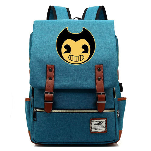 Bendy and the Ink Machine Canvas Travel Backpack School Bag