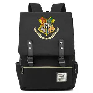 Harry Potter Hogwarts Canvas Travel Backpack Map School bag
