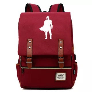 2019 Star Wars The Mandalorian Cosplay Canvas Travel Backpack School Bag