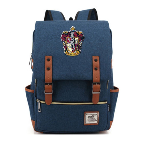 Harry Potter Gryffindor Canvas Travel Backpack School bag