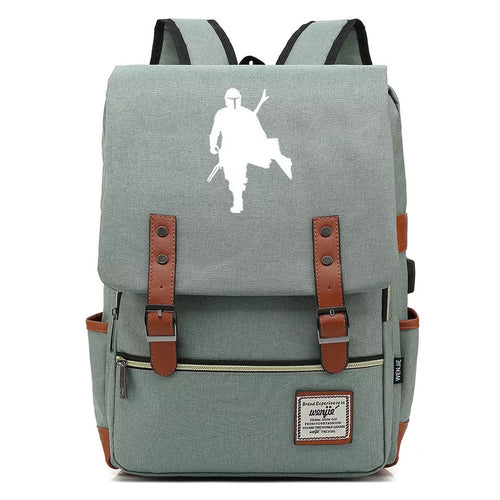2019 Star Wars The Mandalorian #1 Cosplay Canvas Travel Backpack School Bag