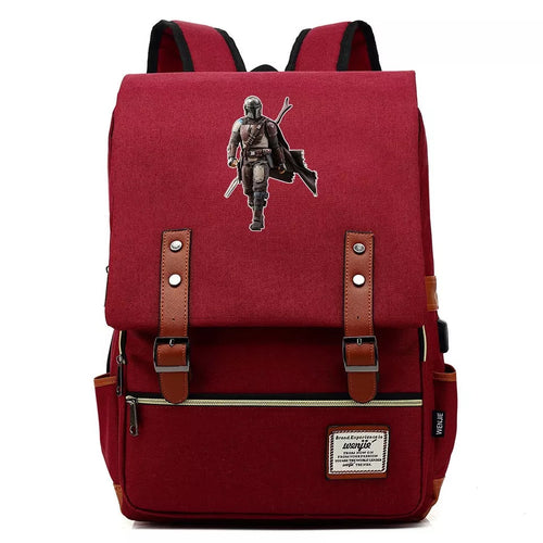 2019 Star Wars The Mandalorian #2 Cosplay Canvas Travel Backpack School Bag