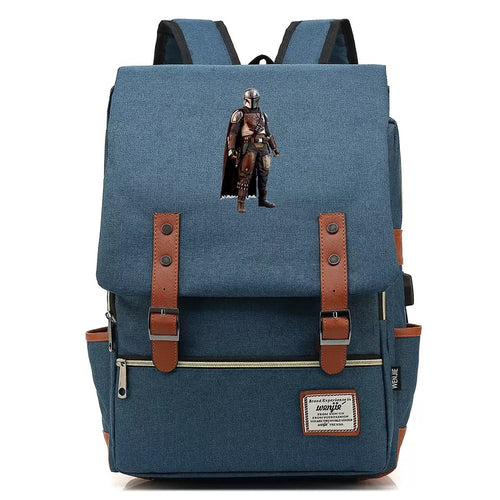 2019 Star Wars The Mandalorian #3 Cosplay Canvas Travel Backpack School Bag