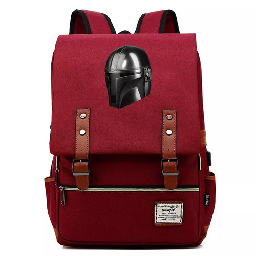 2019 Star Wars The Mandalorian #4 Cosplay Canvas Travel Backpack School Bag