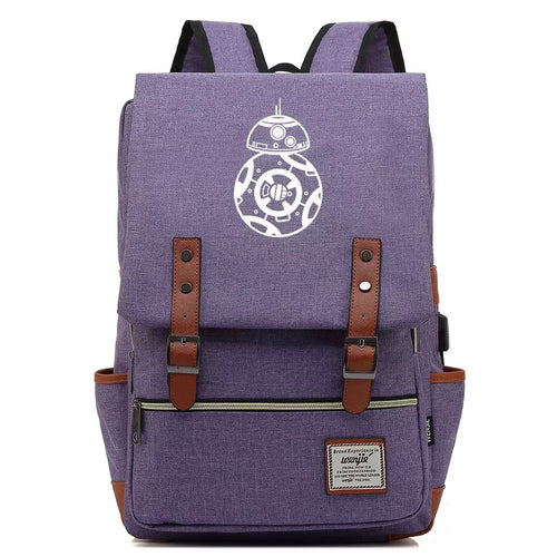 2019 Star Wars BB-8 #5 Cosplay Canvas Travel Backpack School Bag