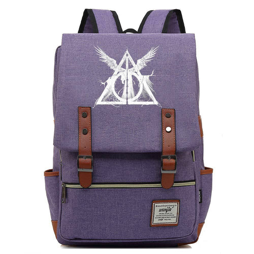 Harry Potter Canvas Travel Backpack School bag