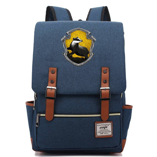 Harry Potter Hufflepuff #1 Canvas Travel Backpack School Bag