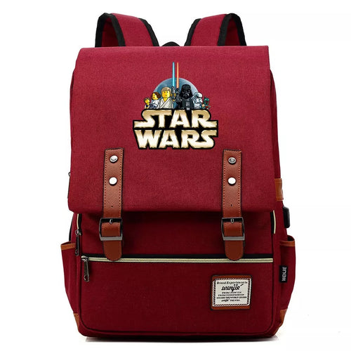 Copy of Star Wars The Mandalorian #7 Cosplay Canvas Travel Backpack School Bag