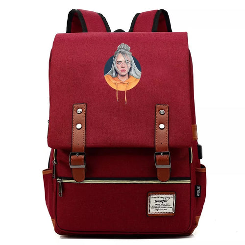 Billie Eilish Crying  #4 Cosplay Canvas Travel Backpack School Bag Back Pack