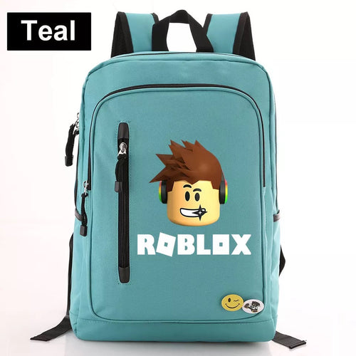 Game Roblox #5 Canvas Travel Backpack School Bag Water Proof