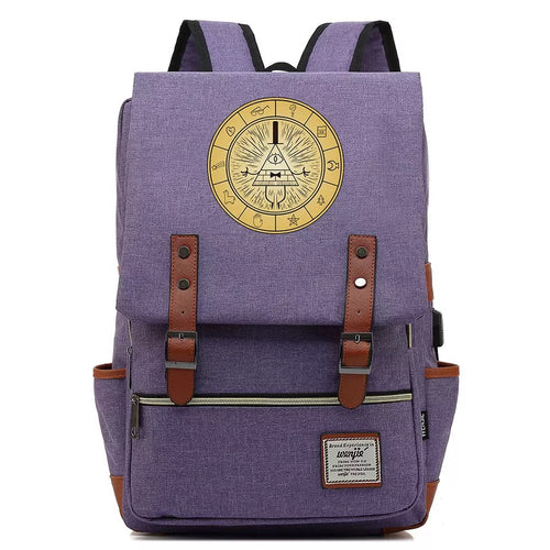 Anime Gravity Falls #1 Cosplay Canvas Travel Backpack School Bag Back Pack