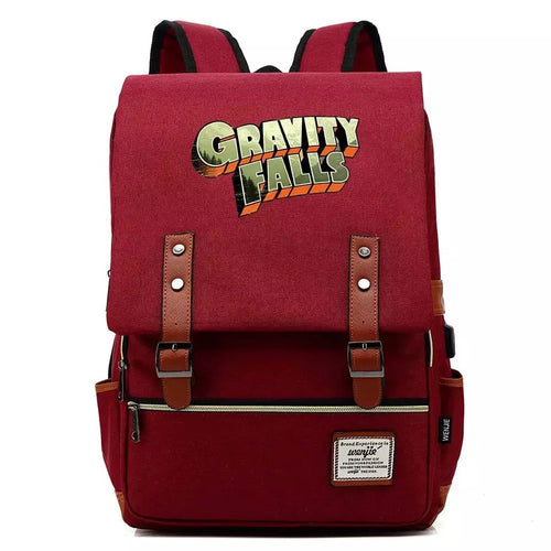 Anime Gravity Falls #3 Cosplay Canvas Travel Backpack School Bag Back Pack