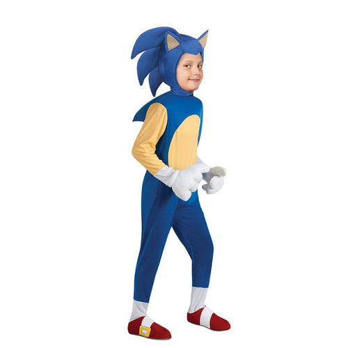 Sonic the Hedgehog  Jumpsuits Uniform Halloween Cosplay Costume For Kids