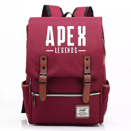 Apex Legends Canvas Travel Backpack Notebook School Bag