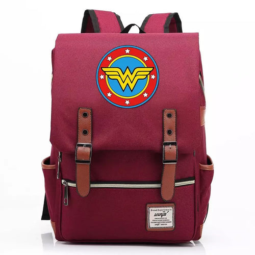 DC Wonder Woman Diana Prince #2 Canvas Travel Backpack School Notebook Bag