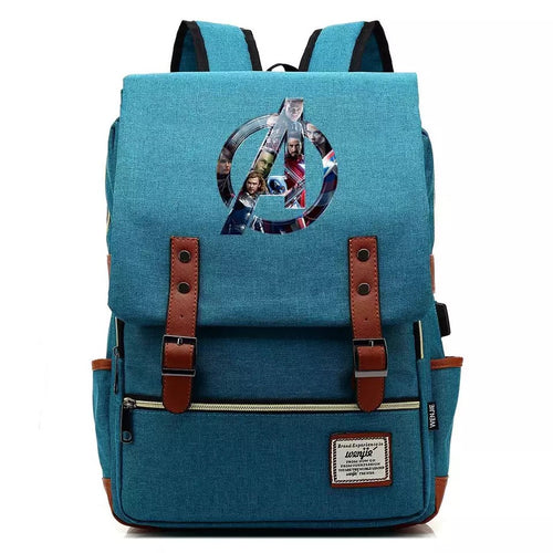 Avengers Infinity War Canvas Travel Backpack School Notebook Bag