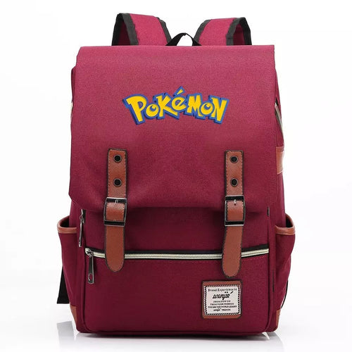 Pokemon Pikachu Canvas Travel Backpack School Notebook Bag