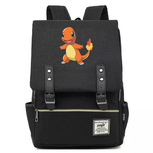 Pokemon Charmander Canvas Travel Backpack School Notebook Bag