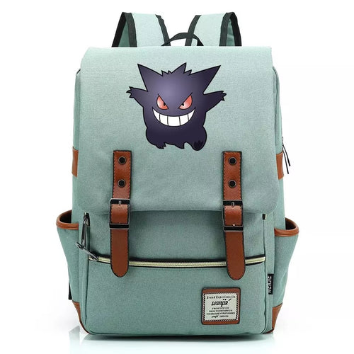 Pokemon Gengar Canvas Travel Backpack School Notebook Bag