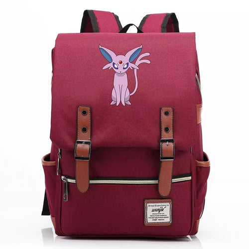 Pokemon Umbreon Canvas Travel Backpack School Notebook Bag