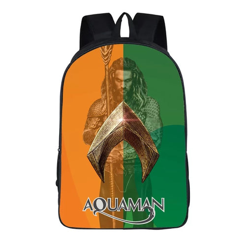 Aquaman Arthur Curry #1 Cosplay Backpack School Notebook Bag