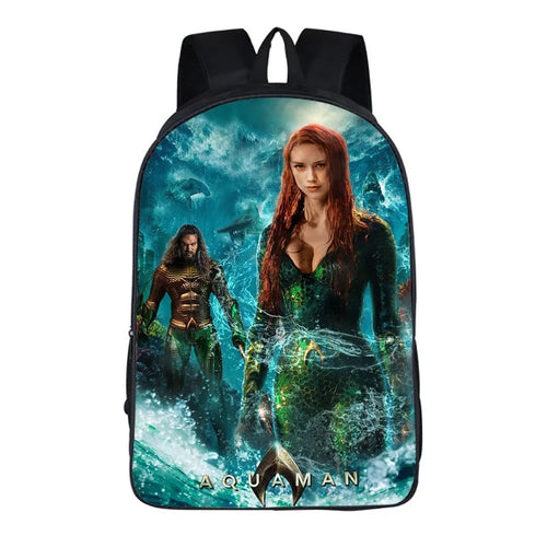 Aquaman Mera #9 Cosplay Backpack School Notebook Bag