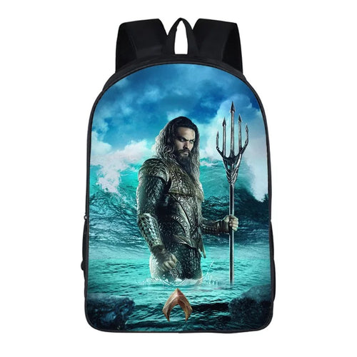 Aquaman Arthur Curry #2 Cosplay Backpack School Notebook Bag