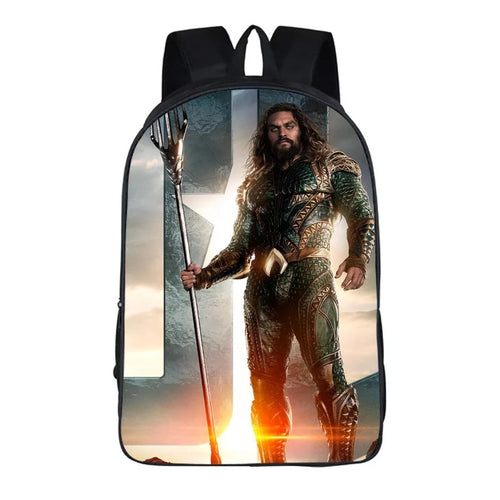 Aquaman Arthur Curry #3 Cosplay Backpack School Notebook Bag