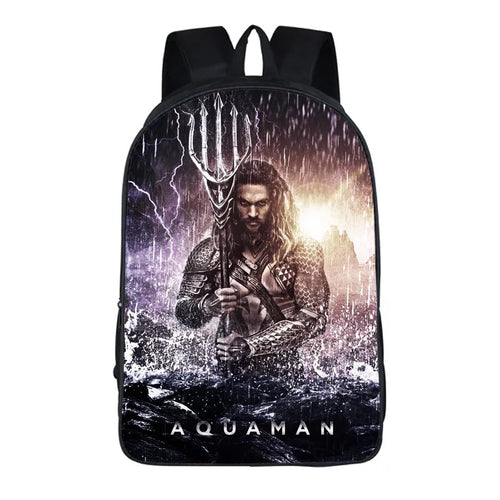 Aquaman Arthur Curry #7 Cosplay Backpack School Notebook Bag