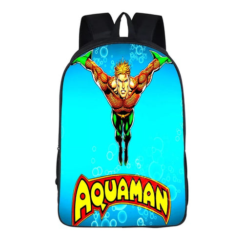 Aquaman Arthur Curry #8 Cosplay Backpack School Notebook Bag