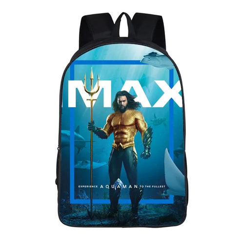Aquaman Arthur Curry 6 Cosplay Backpack School Notebook Bag
