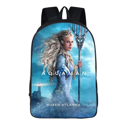 Aquaman Atlanna #11 Cosplay Backpack School Notebook Bag