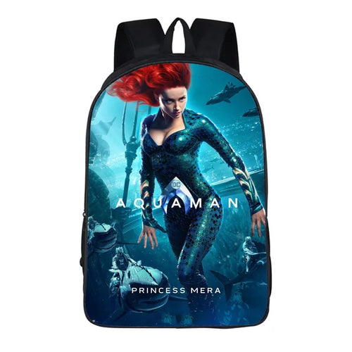 Aquaman Mera #10 Cosplay Backpack School Notebook Bag