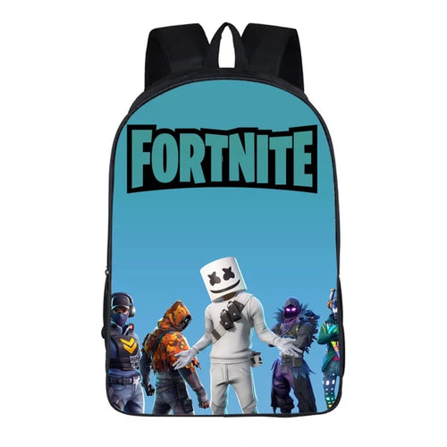 Game Fortnite Season 8 Marshmellow #2 Cosplay Backpack School Notebook Bag