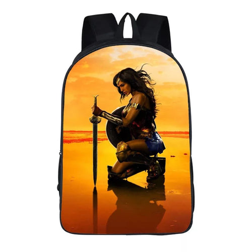 Wonder Woman Diana Prince #2 Cosplay Backpack School Notebook Bag
