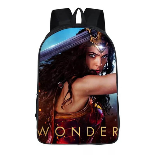 Wonder Woman Diana Prince #4 Cosplay Backpack School Notebook Bag