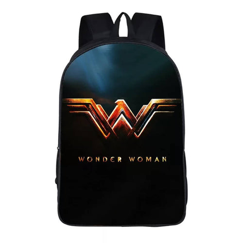 Wonder Woman Diana Prince #17 Cosplay Backpack School Notebook Bag