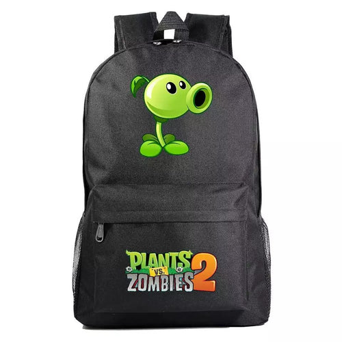 Plants VS Zombie Peashooter Cosplay Backpack School Bag Water Proof