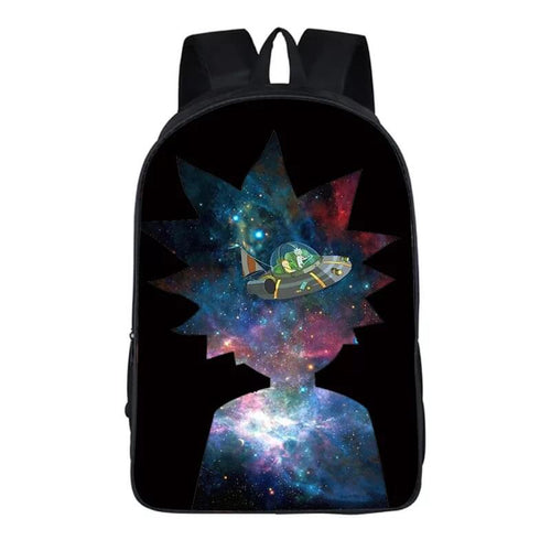 Anime Rick And Morty #12 Cosplay Backpack School Notebook Bag