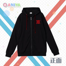 Load image into Gallery viewer, Darling in the Franxx Black Hoodie Sweater Cosplay Costume