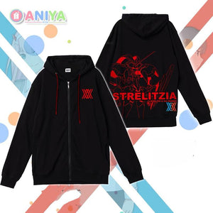 Darling in the Franxx Black Hoodie Sweater Cosplay Costume