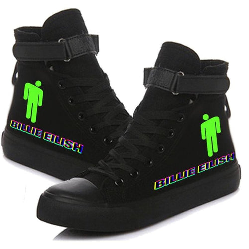 Billie Eilish Bellyache Classic Style  Cosplay Shoes High Top Canvas Sneakers