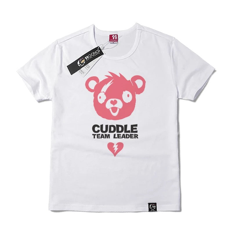 Fortnite Cuddle Team Leader Short Sleeve Shirt Cosplay Costume