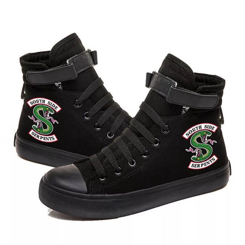 Riverdale South Side Serpents #2 High Tops Casual Canvas Shoes Unisex Sneakers