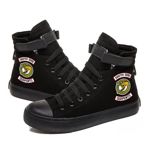 Riverdale South Side Serpents #4 High Tops Casual Canvas Shoes Unisex Sneakers