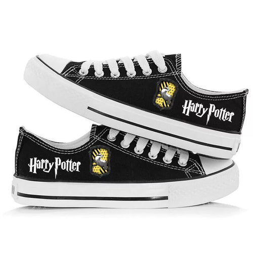 Harry Potter Hufflepuff Cosplay Shoes Canvas Sneakers For Kids