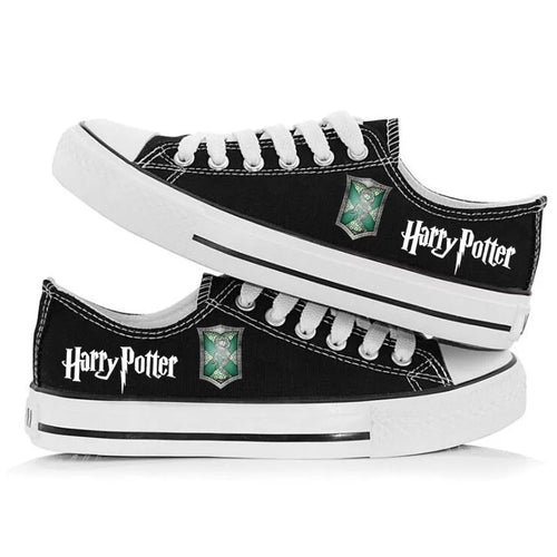 Harry Potter Slytherin Cosplay Shoes Canvas Sneakers For Kids