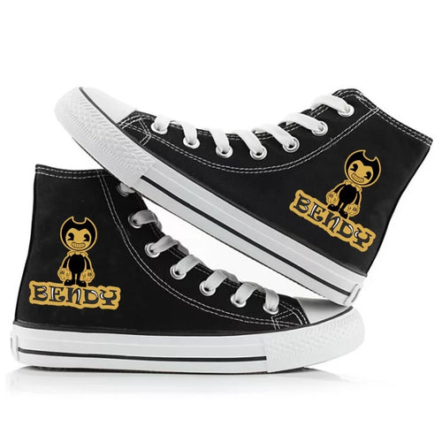 Bendy and the Ink Machine #3 High Tops Casual Canvas Shoes Unisex Sneakers