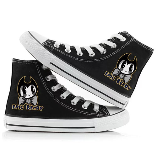 Bendy and the Ink Machine #4 High Tops Casual Canvas Shoes Unisex Sneakers
