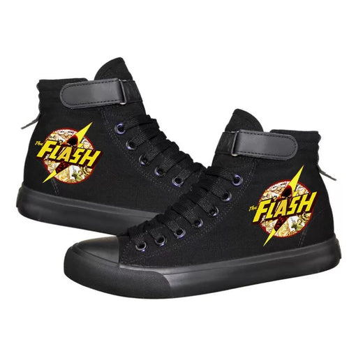 The Flash Barry Allen Superhero High Tops Casual Canvas Shoes Unisex Sneakers
